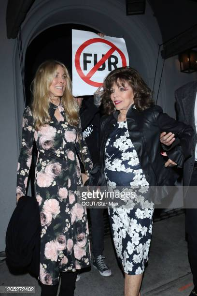 Alana Stewart and Joan Collins are seen on March 5 2020 in Los Angeles California