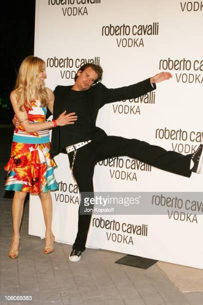Alana Stewart and Sean Stewart during International Fashion Designer Roberto Cavalli Celebrates The Launch of Roberto Cavalli Vodka in Holmby Hills...