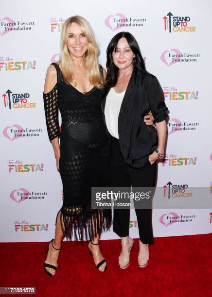 Alana Stewart and Shannen Doherty attend the Farrah Fawcett Foundation's TexMex Fiesta at Wallis Annenberg Center for the Performing Arts on...