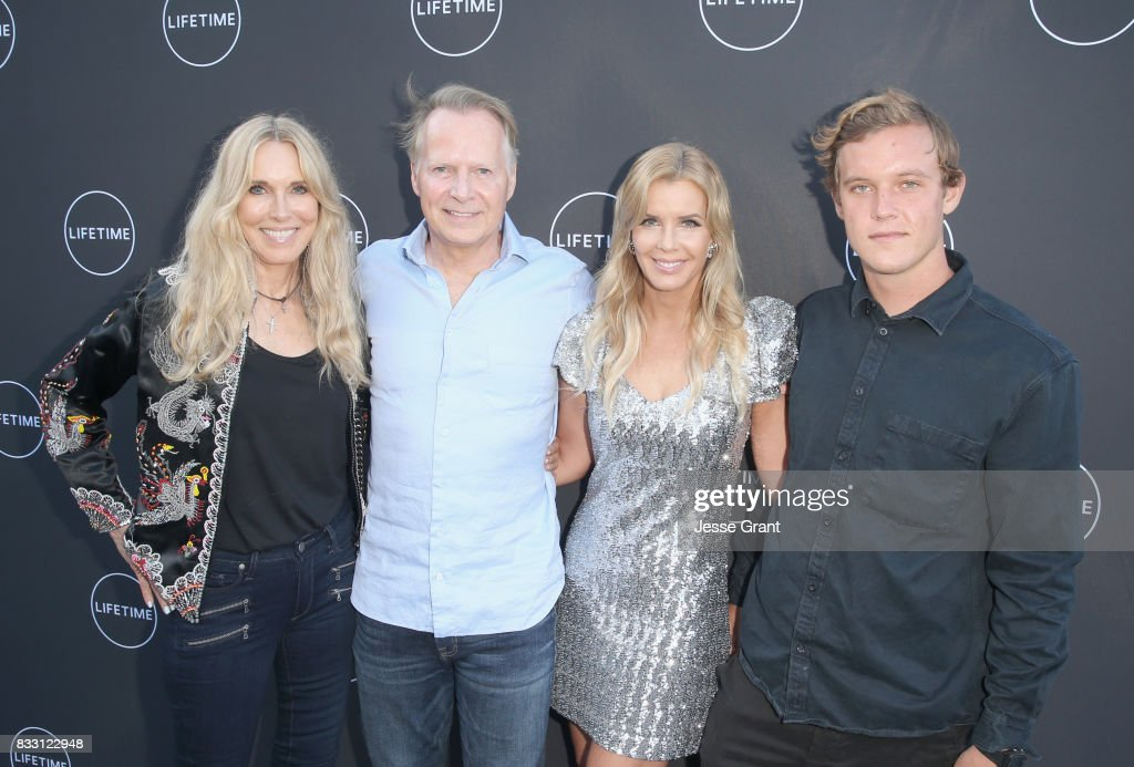Alana Stewart, David Dreier, Andrea Schroder and Luke Schroder attend Lifetime's New Docuseries 'Growing Up Supermodel's' Exclusive LIVE Viewing Party Hosted By Andrea Schroder on August 16, 2017 in Studio City, California.