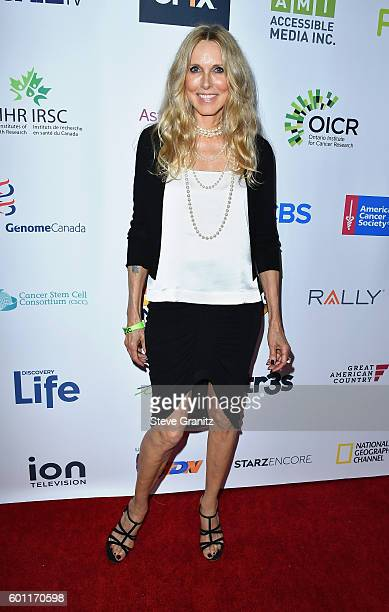 Alana Stewart of the Farrah Fawcett Foundation attends Stand Up To Cancer 2016 at Walt Disney Concert Hall on September 9 2016 in Los Angeles...