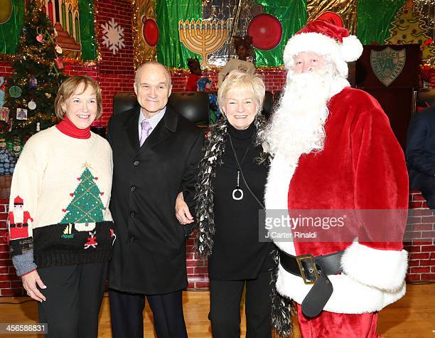 Alana Sweeny Commissioner of New York Raymond Kelly Veronica Kelly and Santa Claus attend City Sightseeing New York 2013 holiday toy drive at PAL's...