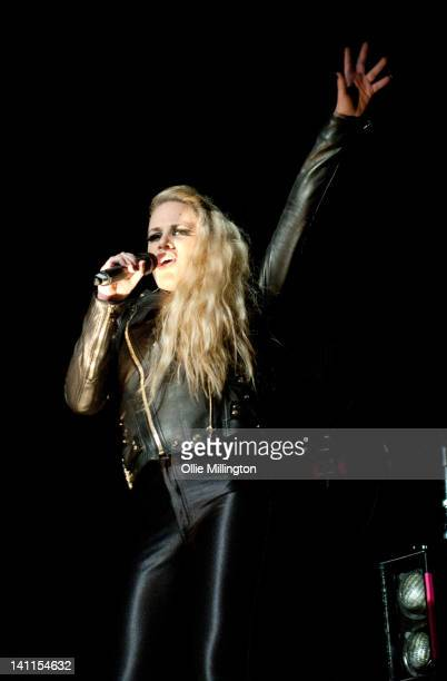 Alana Watson of Nero performs on stage during the 'Second Reality' Tour at O2 Academy Leicester on March 11 2012 in Leicester United Kingdom