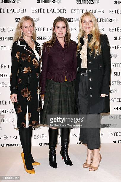 Alana Weston Aeirn Lauder and Gwyneth Paltrow during Gwyneth Paltrow as The New Face of Estee Lauder Pleasures November 8 2005 at Selfridges Oxford...