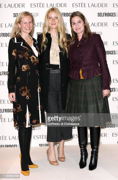 Alana Weston Gwyneth Paltrow and Aeirn Lauder during Gwyneth Paltrow as The New Face of Estee Lauder Pleasures November 8 2005 at Selfridges Oxford...
