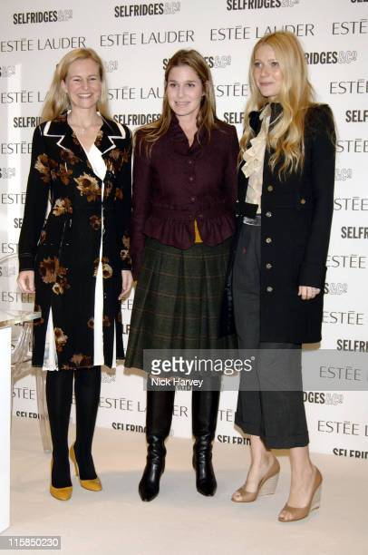 Alana Weston Gwyneth Paltrow and Aerin Lauder during Estee Lauder Pleasures 10th Anniversary Launch and Appearance by Gwyneth Paltrow at Selfridges...