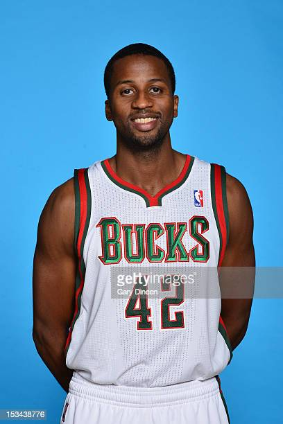 Alando Tucker of the Milwaukee Bucks poses for a portrait during media day at the Milwaukee Bucks Training Center on October 1 2012 in St Francis...