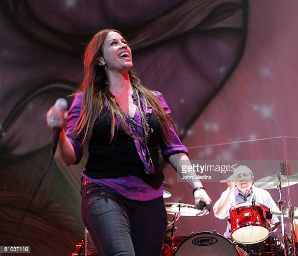 Alanis Morisette performs at HP Pavilion on March 12, 2008 in San Jose, California.