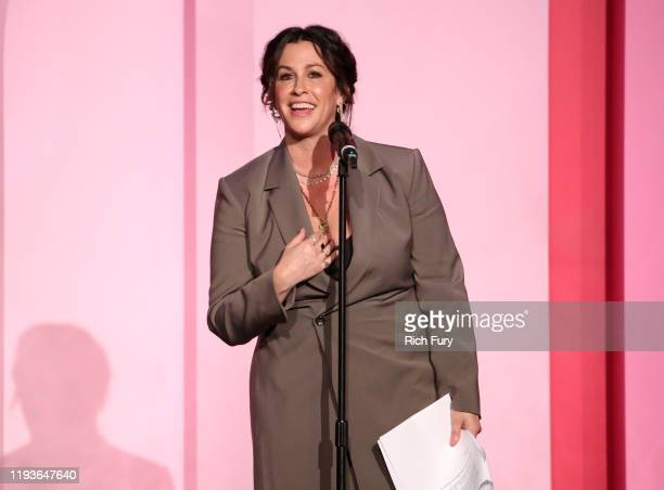 Alanis Morissette accepts the Icon Award onstage during Billboard Women In Music 2019 presented by YouTube Music on December 12 2019 in Los Angeles...