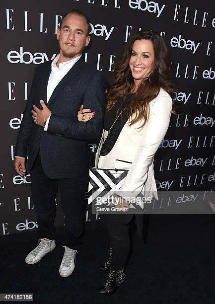 Alanis Morissette and Mario Treadway arrives at the 6th Annual ELLE Women In Music Celebration Presented By eBay at Boulevard3 on May 20 2015 in...