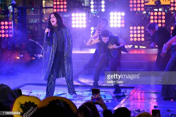 Alanis Morissette and the Jagged Little Pill cast perform at Times Square New Year's Eve 2020 Celebration on December 31, 2019 in New York City.