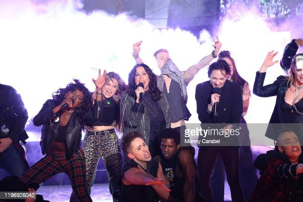 Alanis Morissette and the Jagged Little Pill cast perform during the Times Square New Year's Eve 2020 Celebration on December 31 2019 in New York City