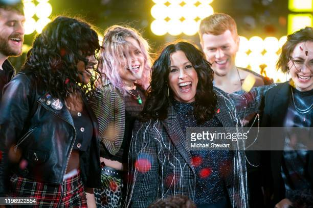 Alanis Morissette and the Jagged Little Pill cast performs during the Times Square New Year's Eve 2020 Celebration on December 31 2019 in New York...