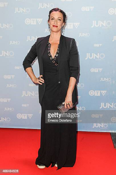 Alanis Morissette arrives at the 2015 Juno Awards at FirstOntario Centre on March 15 2015 in Hamilton Canada
