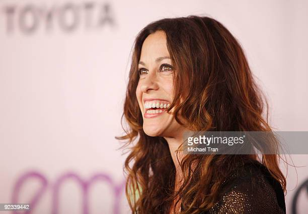 Alanis Morissette arrives to the 20th Anniversary 2009 EMA Awards held on the backlot at Paramount Studios on October 25 2009 in Los Angeles...