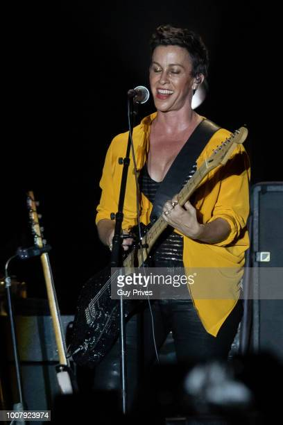 Alanis Morissette at Rishon Lezion Live Park on July 30 2018 in Tel Aviv Israel