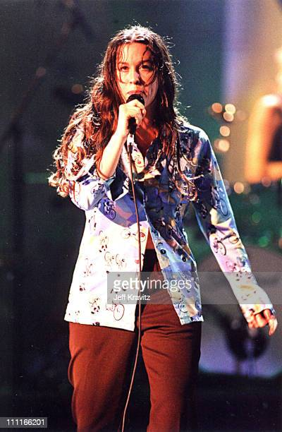 Alanis Morissette during 1995 MTV Video Music Awards Show at Radio City Music Hall in New York City New York United States