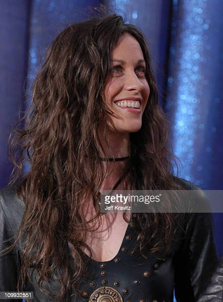 Alanis Morissette during 2003 MTV Movie Awards Arrivals at The Shrine Auditorium in Los Angeles California United States