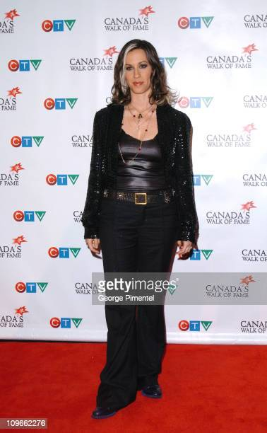 Alanis Morissette during 2005 Canada's Walk of Fame Press Room at Elgin Theatre in Toronto Ontario Canada