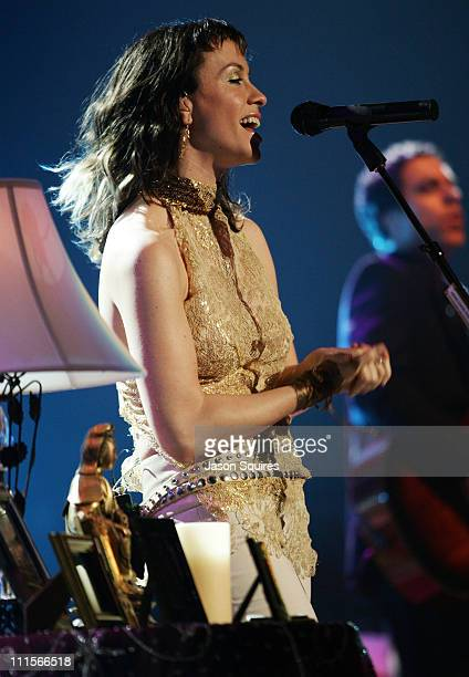 Alanis Morissette during Alanis Morissette Diamond Wink Tour celebrating the 10th Anniversary of Jagged Little Pill Kansas City at Midland Theatre in...
