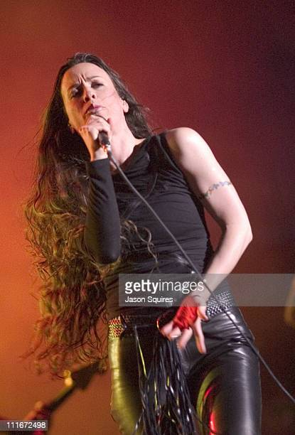 Alanis Morissette during Alanis Morissette Performs at the Starlight Theatre live May 13 2002 at Starlight Theatre in Kansas City Missouri United...