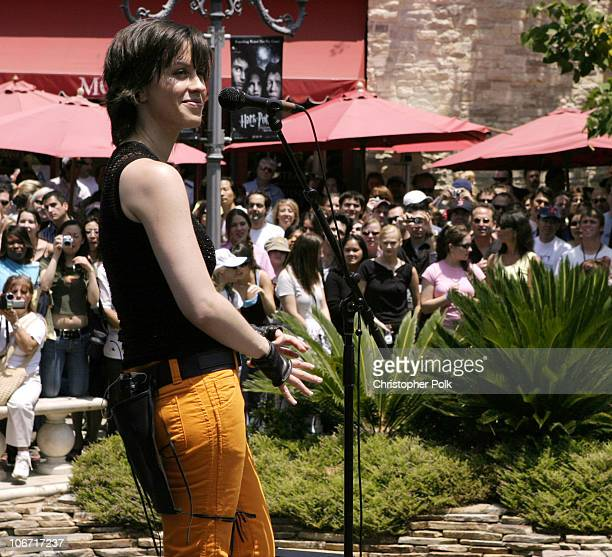 """Alanis Morissette during Alanis Morissette Performs Free Concert at The Grove to Support her New Album """"So-Called Chaos"""" at The Grove in Los Angeles,..."""