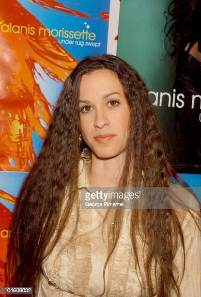 Alanis Morissette during Alanis Morissette releases 'Under Rug Swept' CD at Rogers Media Building in Toronto Ontario Canada