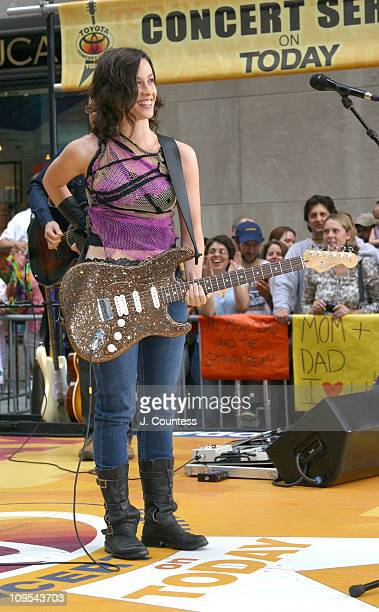Alanis Morissette during Alanis Morrisette Performs on 'The Today Show' Summer Concert Series September 5 2003 at NBC Studios Rockefeller Center in...