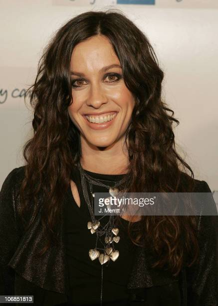 Alanis Morissette during American Express 'Jam Sessions' at the House of Blues with Alanis Morissette and Avril Lavigne Arrivals at House of Blues in...