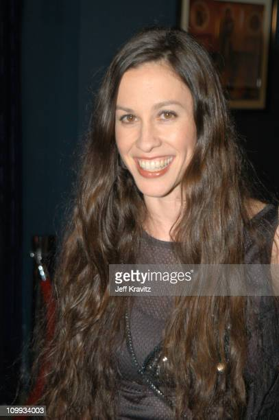 Alanis Morissette during MTV Rock The Vote 10th Annual Patrick Lippert Awards at Roseland Ballroom in New York NY United States
