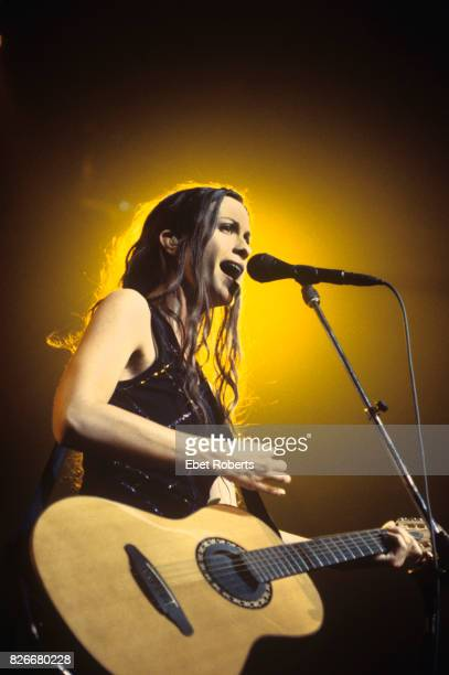 Alanis Morissette performing at the Hammerstein Ballroom in New York City on October 22 1998