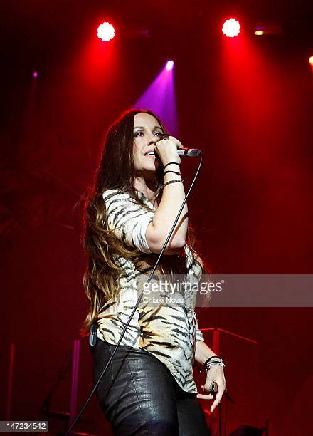 Alanis Morissette performs at Brixton Academy on June 27 2012 in London England