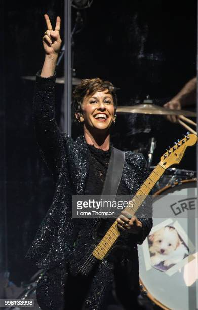 Alanis Morissette performs at Eventim Apollo on July 13 2018 in London England