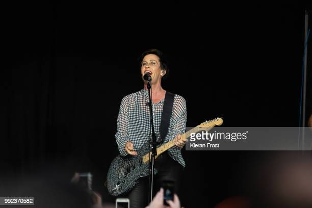 Alanis Morissette performs at Iveagh Gardens on July 5 2018 in Dublin Ireland