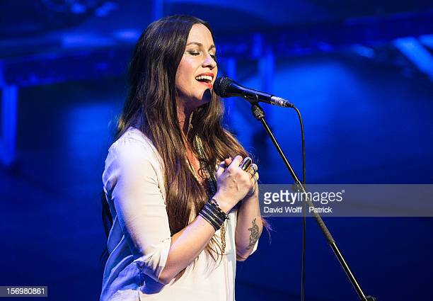 Alanis Morissette performs at l' Olympia on November 26 2012 in Paris France