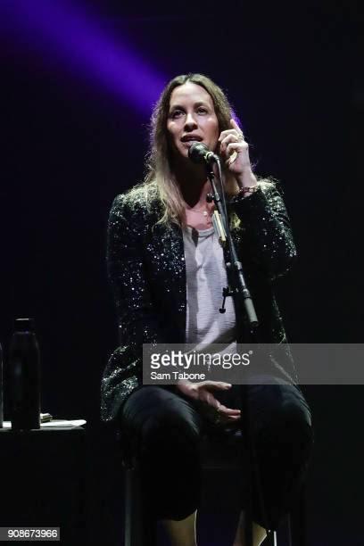 Alanis Morissette performs at Palais Theatre on January 22 2018 in Melbourne Australia