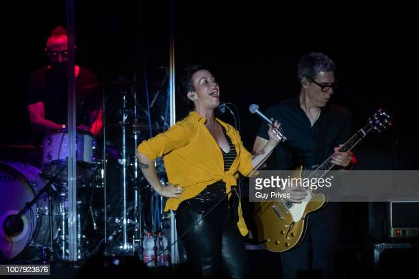 Alanis Morissette performs at Rishon Lezion Live Park on July 30 2018 in Tel Aviv Israel