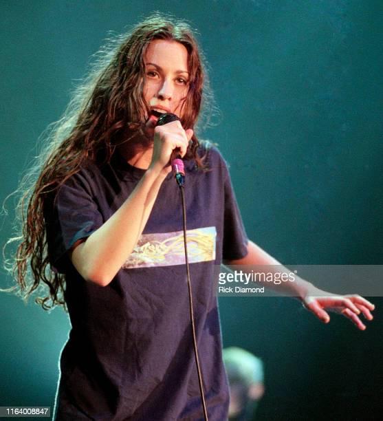 Alanis Morissette performs at The Omni Coliseum in Atlanta Georgia, September 14,1996