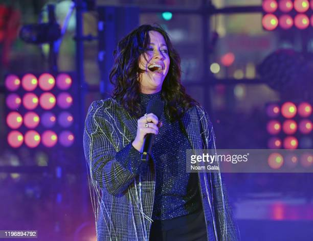 Alanis Morissette performs at the Times Square New Year's Eve 2020 Celebration on December 31, 2019 in New York City.