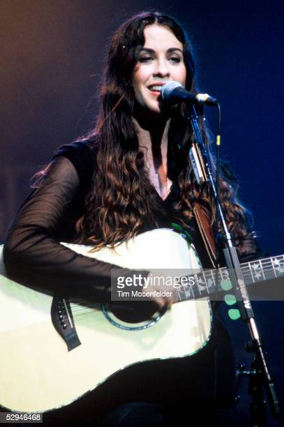 Alanis Morissette performs at The Warfield on November 15 1995 in San Francisco California