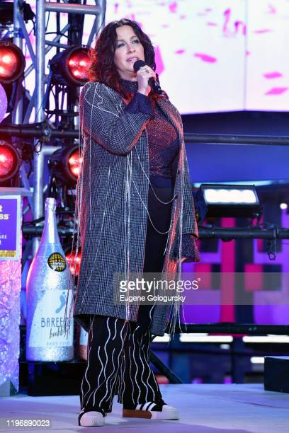 Alanis Morissette performs during Dick Clark's New Year's Rockin' Eve With Ryan Seacrest 2020 on December 31 2019 in New York City
