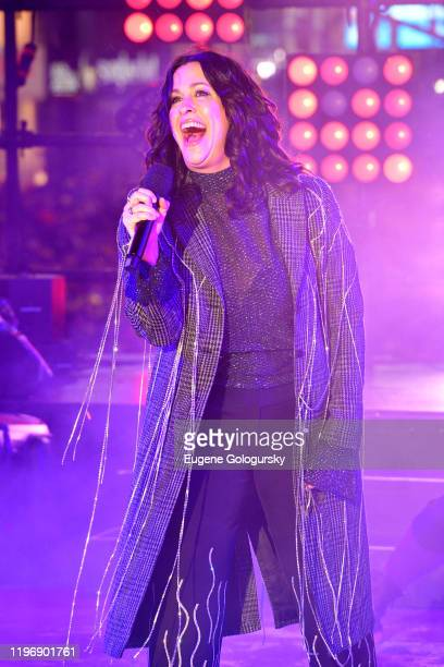 Alanis Morissette performs during Dick Clark's New Year's Rockin' Eve With Ryan Seacrest 2020 on December 31, 2019 in New York City.
