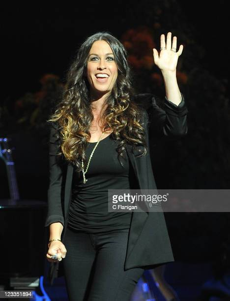 Alanis Morissette performs during the Concert For UCSF Benioff Children's Hospital at Davies Symphony Hall on September 1 2011 in San Francisco...