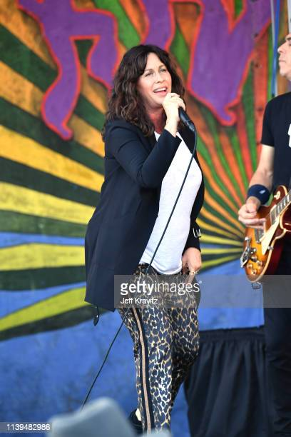 Alanis Morissette performs during the New Orleans Jazz and Heritage Festival 2019 50th Anniversary at Fair Grounds Race Course on April 25 2019 in...