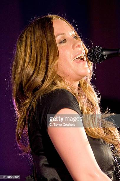 Alanis Morissette performs for a taping of The Artist Den on June 9 2008 at Judson Memorial Church in New York City