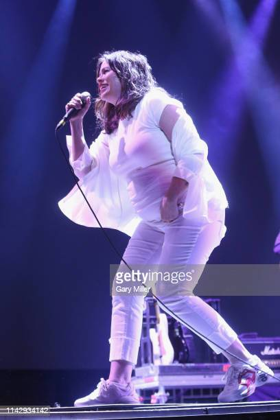 Alanis Morissette performs in concert during day one of KAABOO Texas at ATT Stadium on May 10 2019 in Arlington Texas
