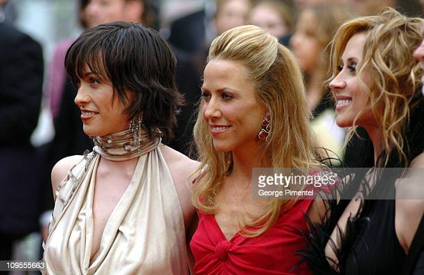 Alanis Morissette Sheryl Crow and Lara Fabian during 2004 Cannes Film Festival 'De Lovely' Premiere And Closing Ceremony at Palais Des Festival in...