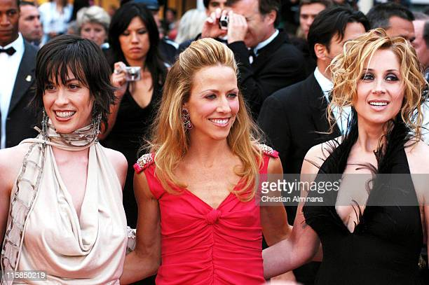 Alanis Morissette Sheryl Crow and Lara Fabian during 2004 Cannes Film Festival De Lovely Premiere