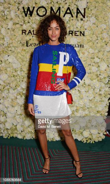 Alanna Arrington attends the European launch of WOMAN by Ralph Lauren hosted by Jessica Chastain at Isabel on September 14 2018 in London England