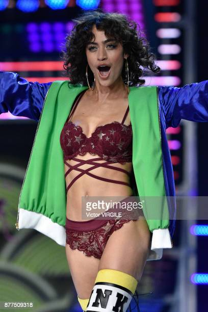 Alanna Arrington walks the runway at the 2017 Victoria's Secret Fashion Show In Shanghai Show at MercedesBenz Arena on November 20 2017 in Shanghai...